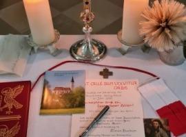 Segnung des Breitenthaler Turmkreuzes und Einbringen der Urkunde